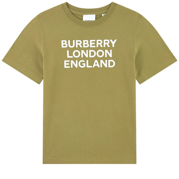 Boys Olive Cotton T-Shirt