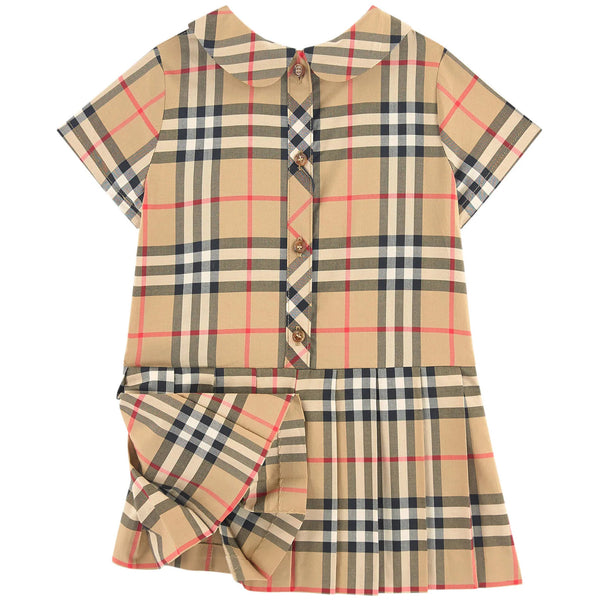 Baby Girls Archive Beige Cotton Dress