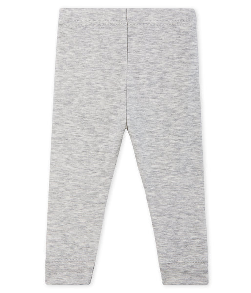 Baby Girls Grey Cotton Leggings