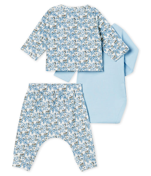 Baby Boys Blue Cotton Sets