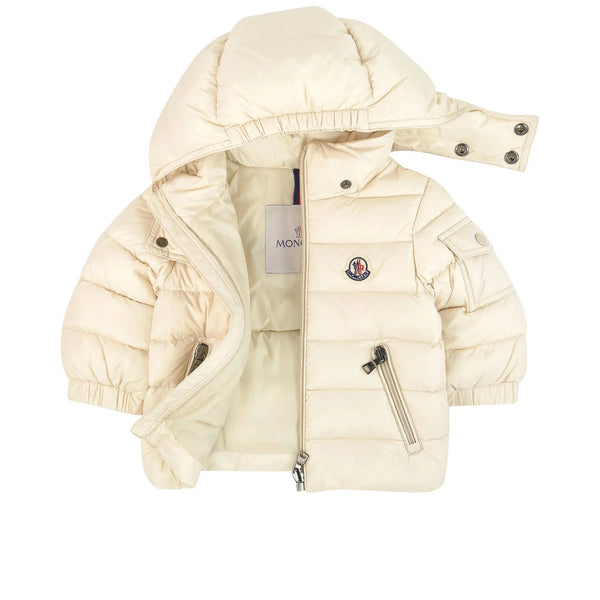 Baby Boys & Girls Light Beige Padded Down Jacket