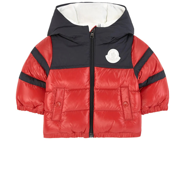 "Baby Boys Red ""ELM"" Padded Down Jacket"