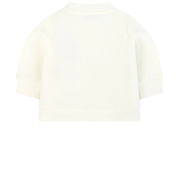 Baby Girls White Padded Down Sweatshirt