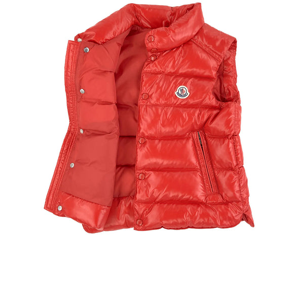 "Boys Red ""TIB"" Padded Down Vest"