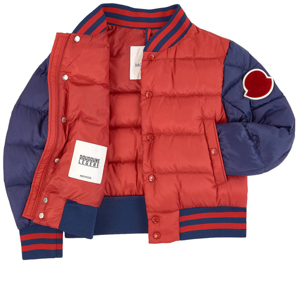 "Boys Red ""BEAUFORTAIN"" Padded Down Bomber Jacket"