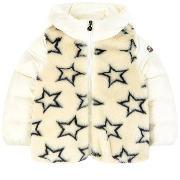 Girls Charcoal Stars Padded Down Jacket