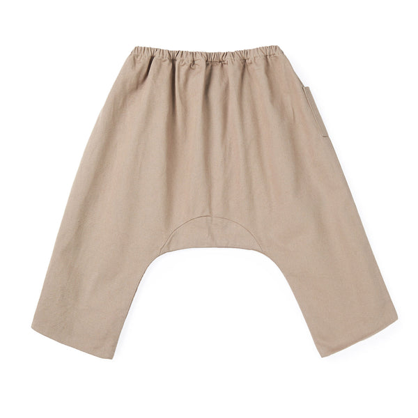 Baby Boys & Girls Khaki Cotton Trousers