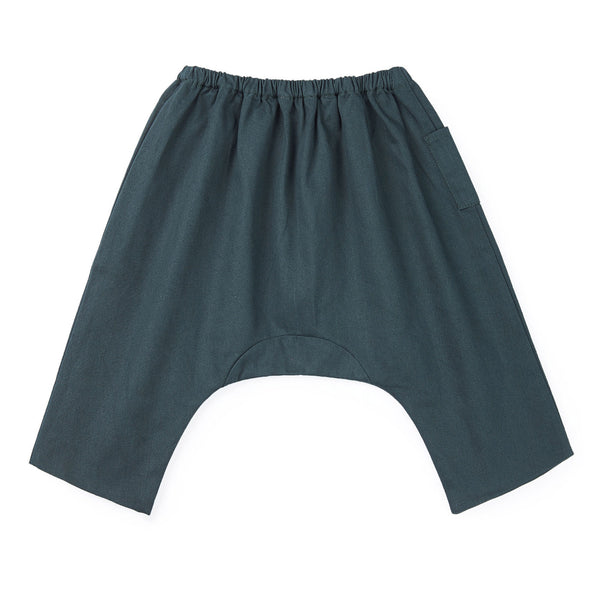 Baby Boys & Girls Dark Grey Cotton Trousers