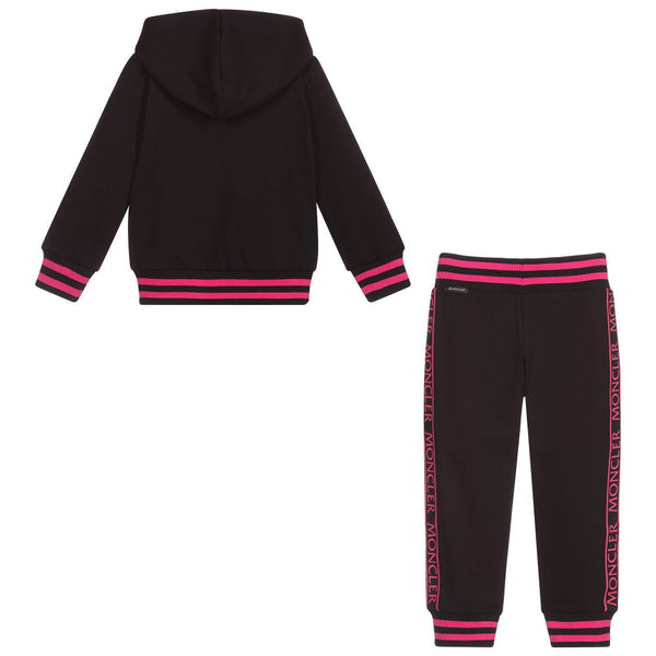 Girls Black Knitwear Clothing Ensemble