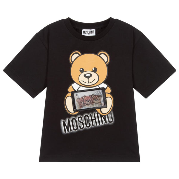 Boys & Girls Black Teddy Bear T-Shirt
