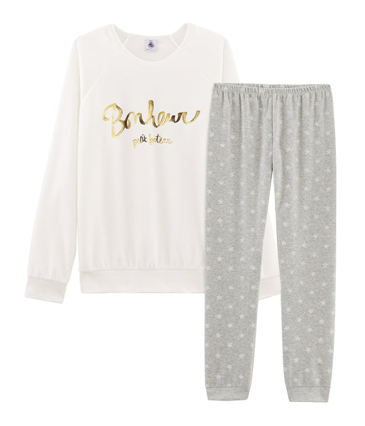Girls White Cotton Nightwear Set