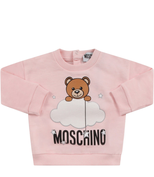 Baby Girls Sugar Rose Cotton Sweatshirt