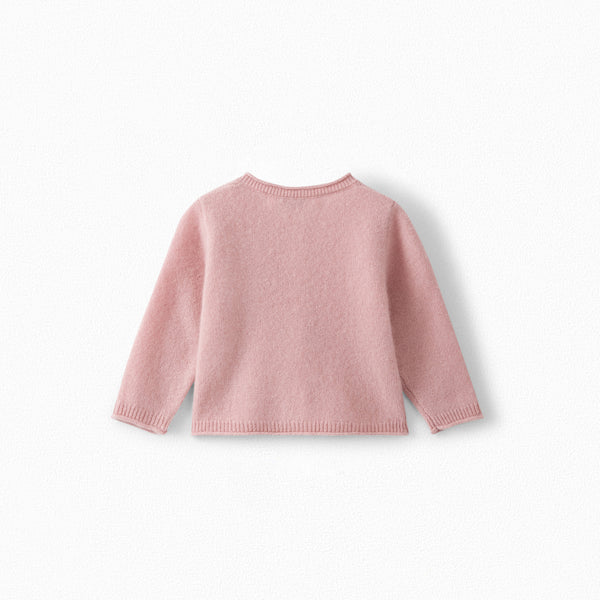 Baby Girls Faded Pink Cashmere Cardigan