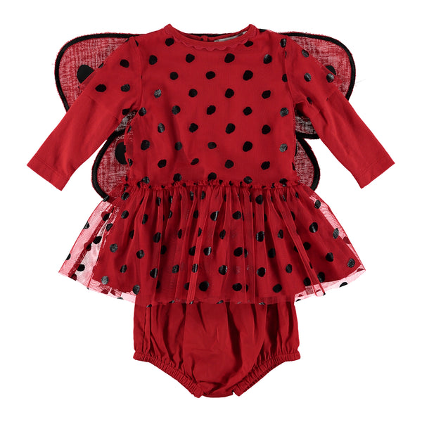Baby Girls Red Butterfly wings Dress