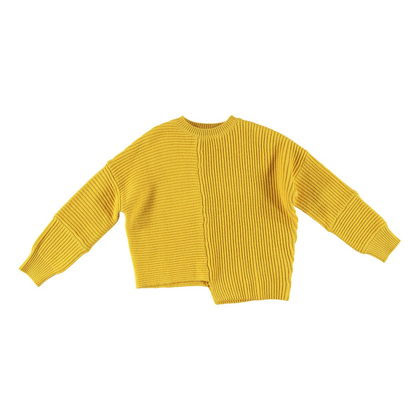Girls Yellow Cotton & Wool Sweatshirt