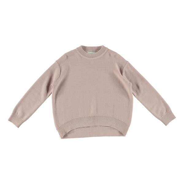 Girls Dusky Rose Cotton & Wool Sweater