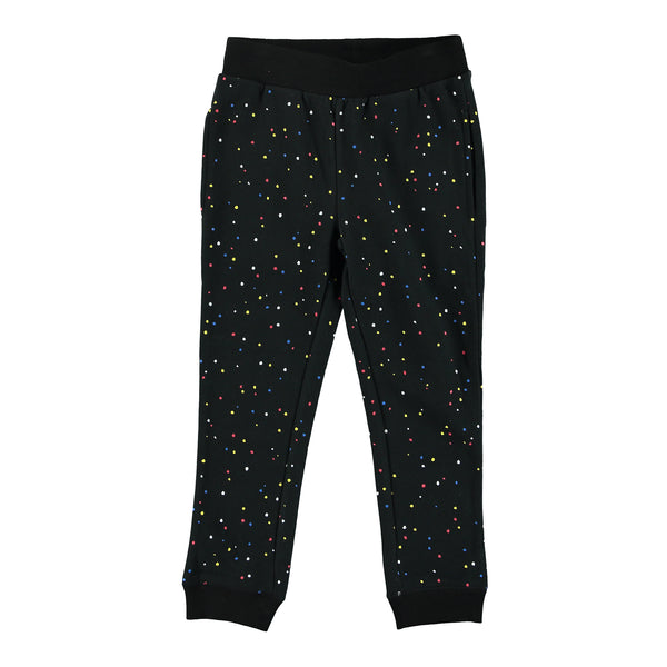 Girls Black Cotton Jersey Trousers