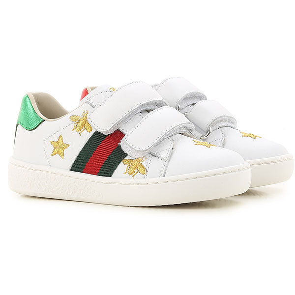 Baby Boys & Girls White Calf Skin Sneakers