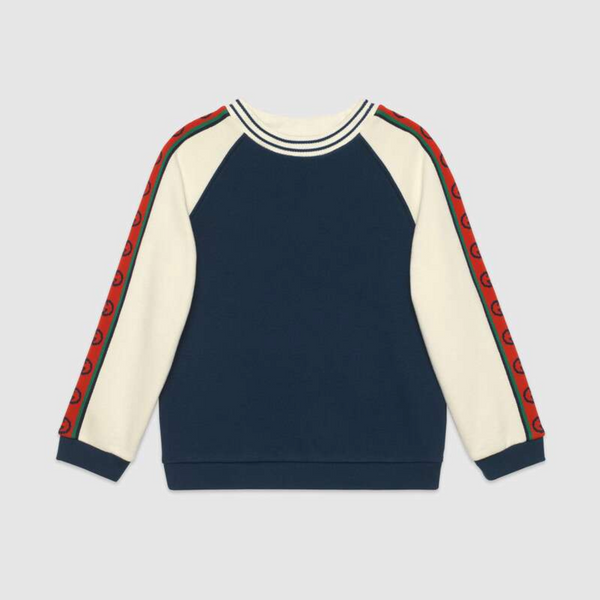 Boys & Girls Prussian Blue Cotton Sweatshirt