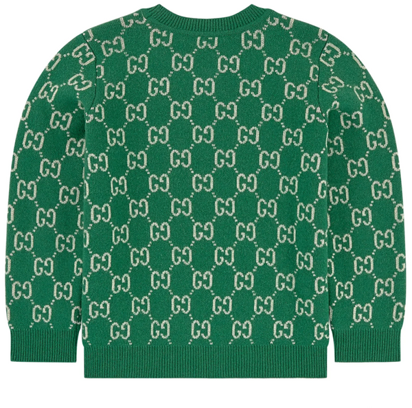 Boys & Girls Green GG Wool Knit Jomper