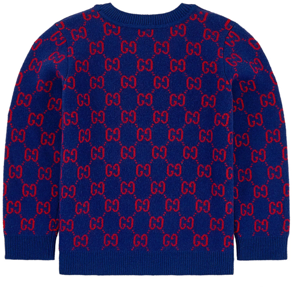 Boys & Girls Inchiostro GG Wool Knit Jomper