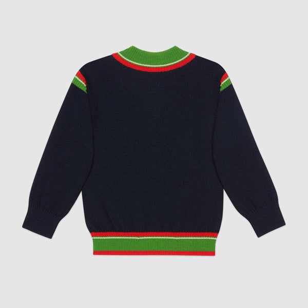 Boys Oltremare Strpe Wool Jumper