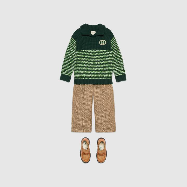 Boys & Girls Green Wool Jumper