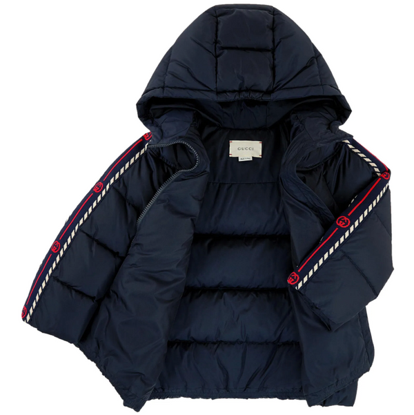 Boys Navy Padded Down Jacket