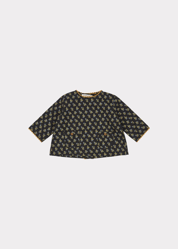 Baby Girls Black Blackcap Blouse