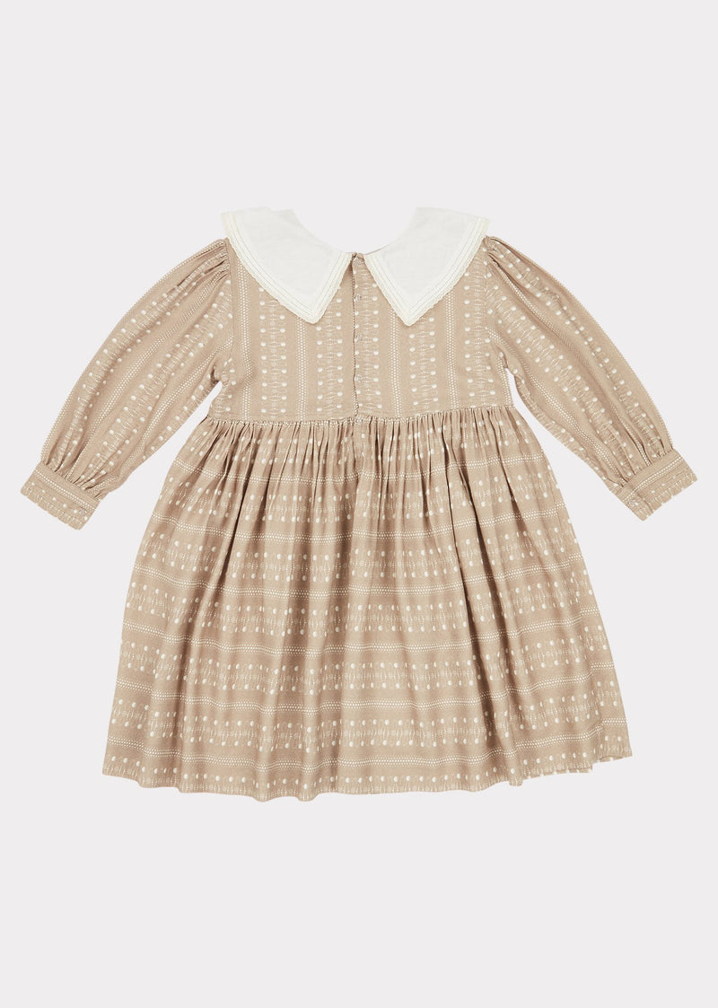 Girls Chestnut Dotty Buzzard Dress