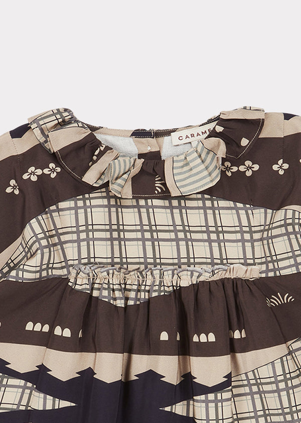 Baby Girls Geometric Puffin Dress
