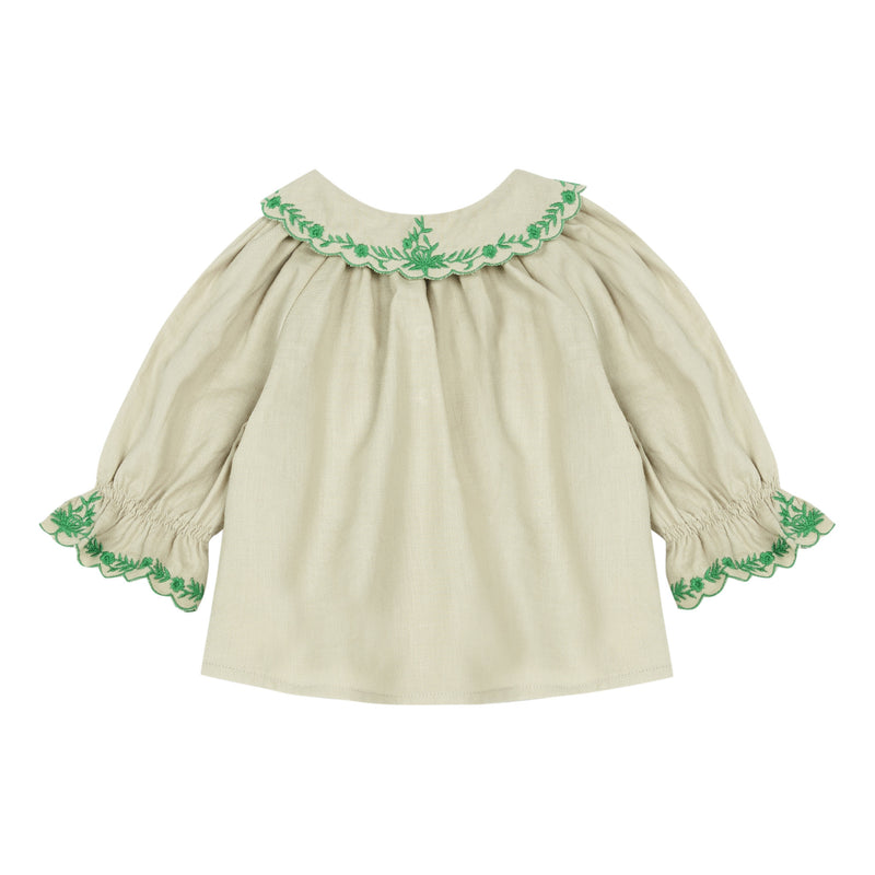 Baby Girls Beige Cotton Top