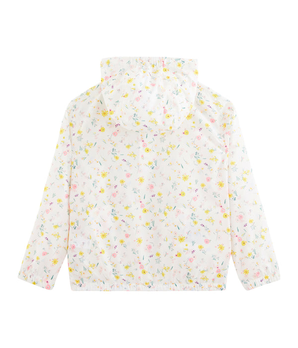 Girls White Flower Jacket