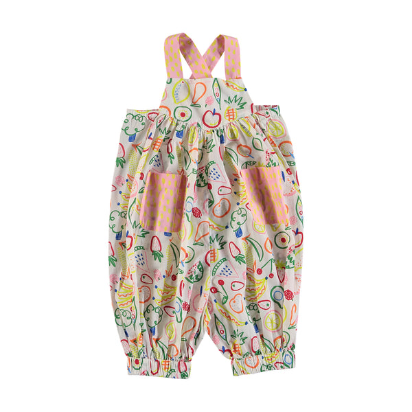 Baby Girls Beige Fruit Rompers