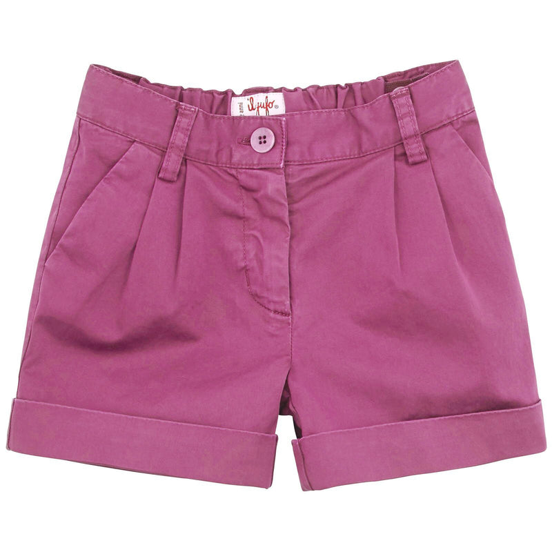 Girls Red Freesia Cotton Shorts - CÉMAROSE | Children's Fashion Store