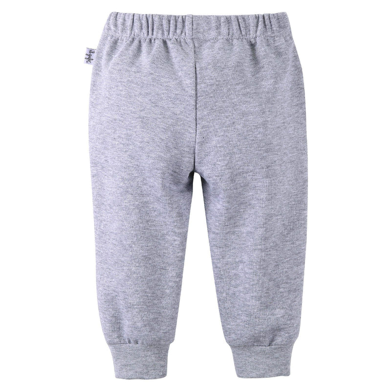 Boys Grey Cotton Trousers With Ribbed Hems - CÉMAROSE | Children's Fashion Store - 2