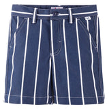 Boys Blue&White Stripe Cotton Bermuda Shorts - CÉMAROSE | Children's Fashion Store - 1