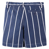 Boys Blue&White Stripe Cotton Bermuda Shorts - CÉMAROSE | Children's Fashion Store - 2