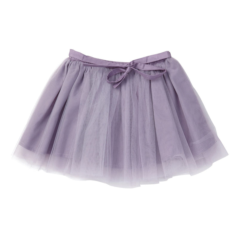Girls Purple Muti Layered Tulle Skirt With Bow Trims - CÉMAROSE | Children's Fashion Store