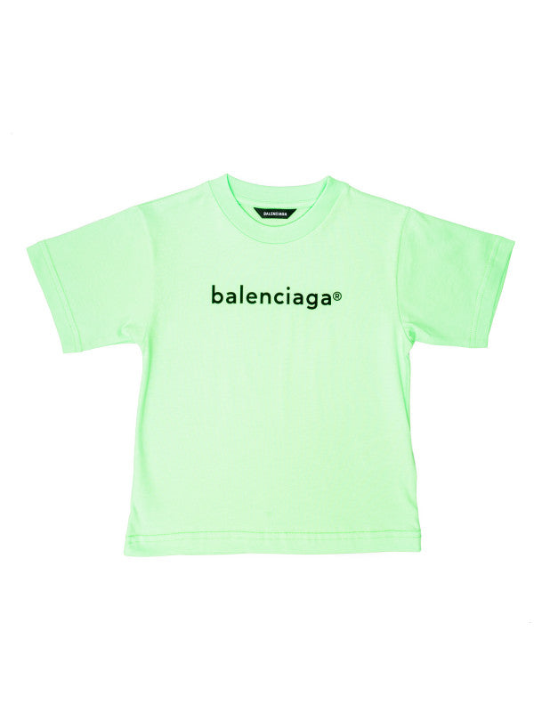 Boys & Girls Green Logo Cotton T-Shirt