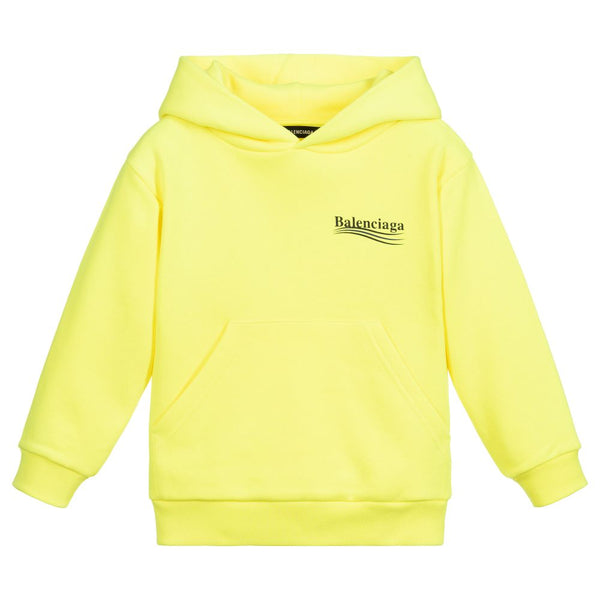 Boys & Girls Yellow Logo Cotton Sweatshirt