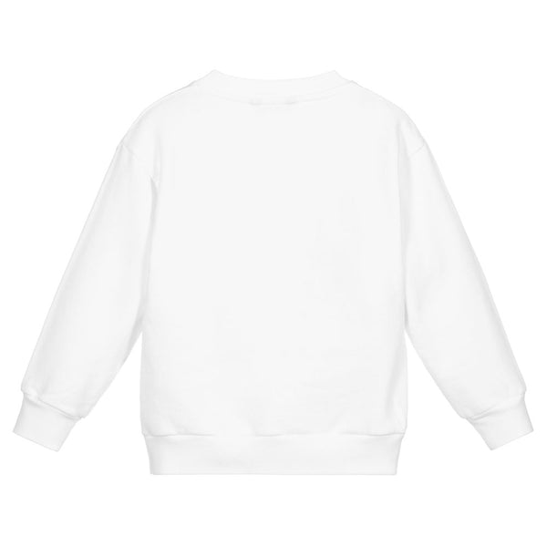 Boys & Girls White Languages Sweatshirt