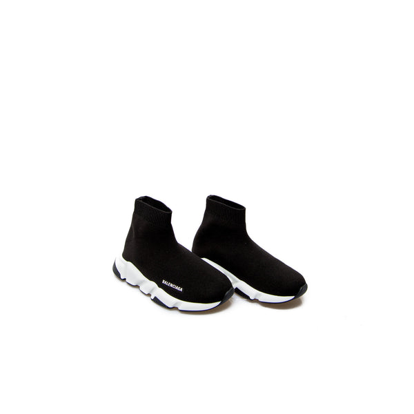 Boys & Girls Black Logo Shoes