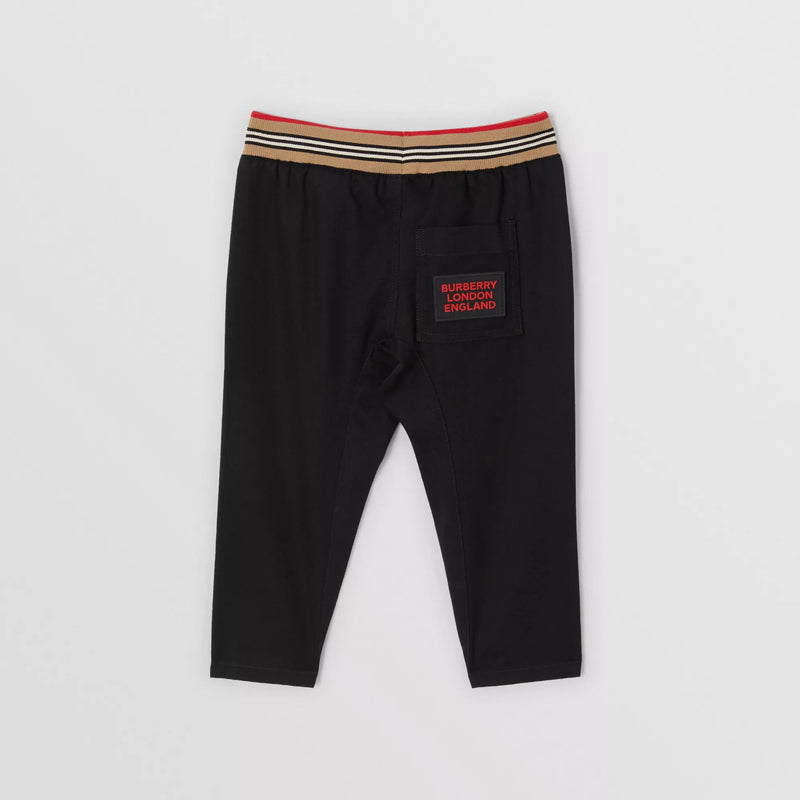 Baby Boys Black Cotton Trousers