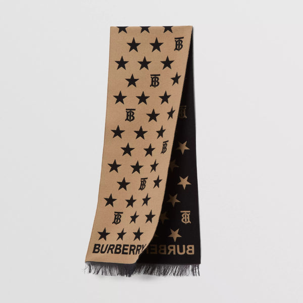 Boys & Girls Beige Star Wool Scarf