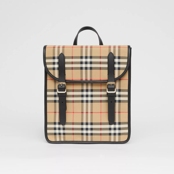 Boys & Girls Beige Check Backpack