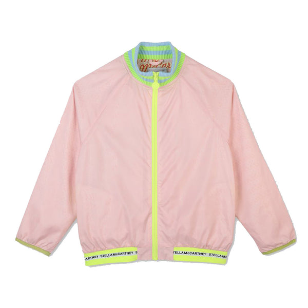 Girls Pink Logo Jacket