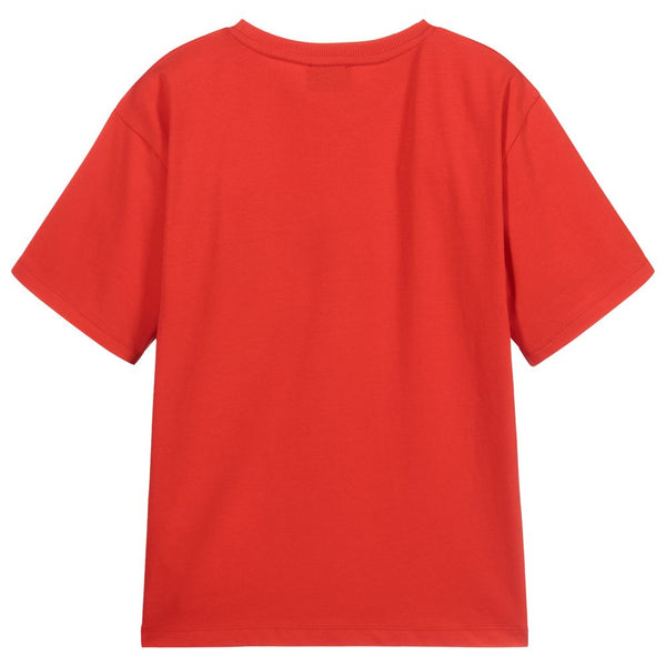 Boys & Girls Poppy Red Cotton T-Shirt