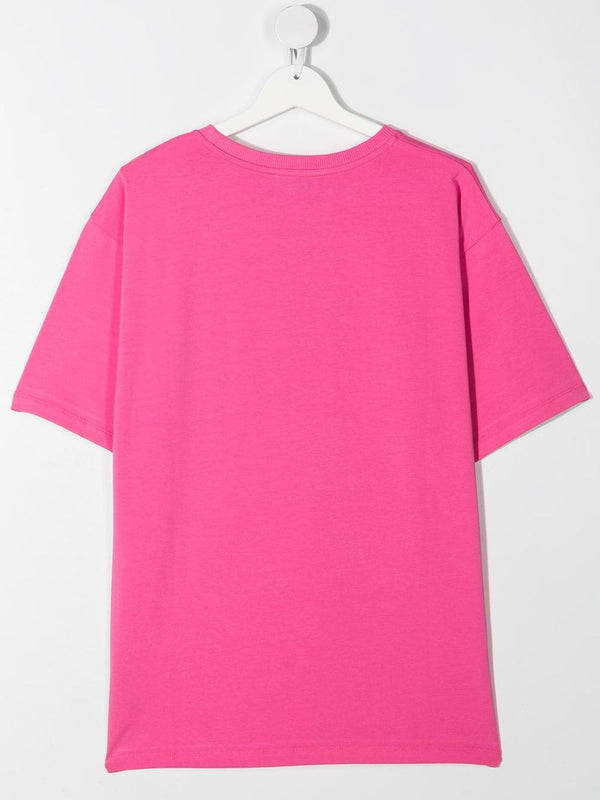 Boys & Girls Azalea Pink Cotton T-Shirt