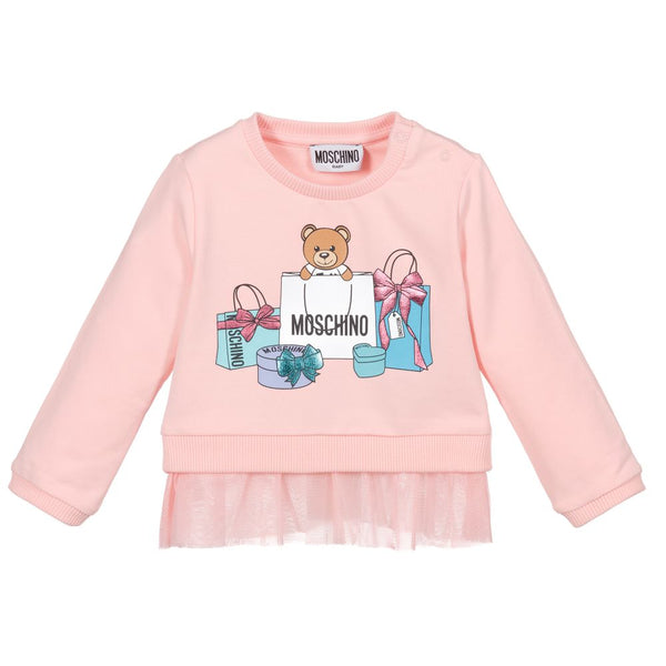 Baby Girls Rose Print Cotton Sweatshirt